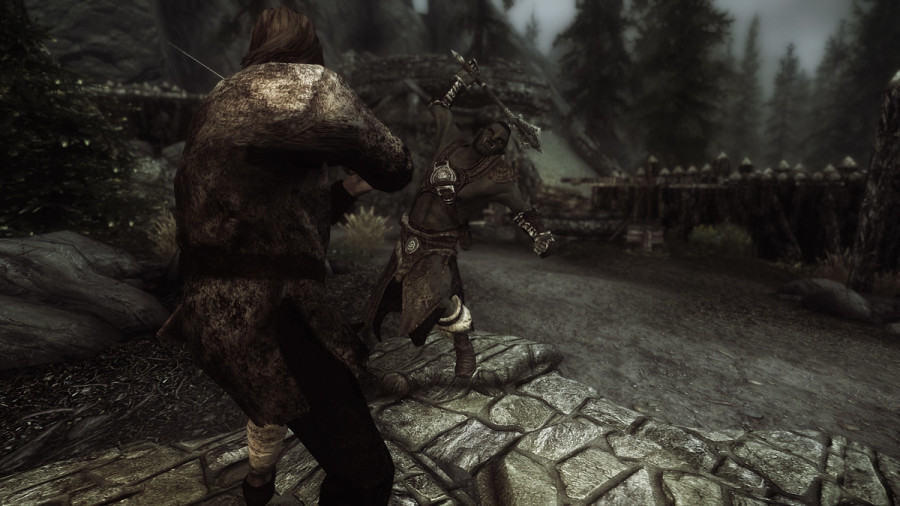 Avingard in Battle Against an Orc