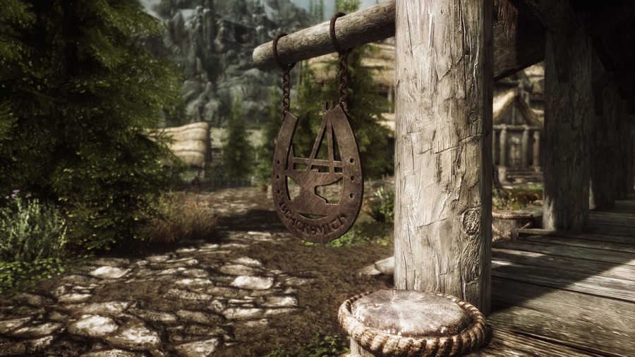 Blacksmith Sign in Falkreath