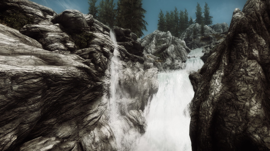 A Waterfall on the Road to Solitude