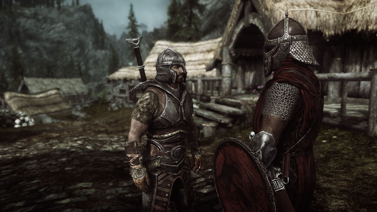 Avingard and an Imperial Legion Soldier - Skyrim Travels
